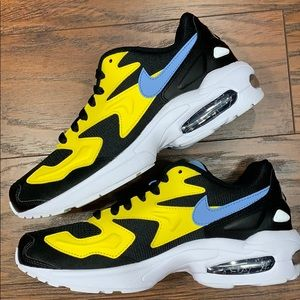 W NIKE AIR MAX2 LIGHT chrome yellow/light blue-bla